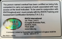 IRATA (Industrial Rope Access Trade Association) ALPIN GROUP