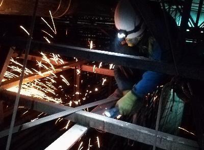montaż oraz demontaż elementów konstrukcji stalowych